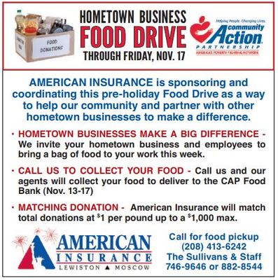 2nd Annual Food Drive set Nov. 13-17 - American Insurance ...